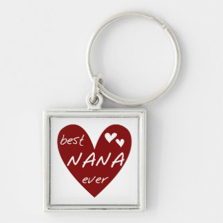 Red Heart Best Nana Ever T-shirts and Gifts Key Ring