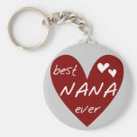 Red Heart Best Nana Ever T-shirts and Gifts Key Chains