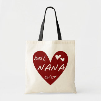 Red Heart Best Nana Ever T-shirts and Gifts Tote Bag