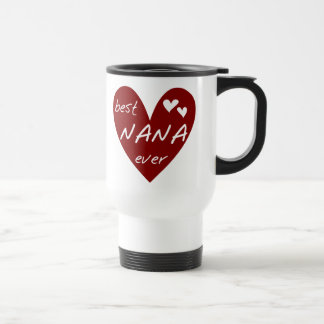 Red Heart Best Nana Ever T-shirts and Gifts Travel Mug
