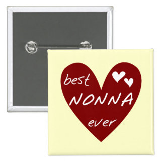 Red Heart Best Nonna Ever T-shirts gifts 15 Cm Square Badge