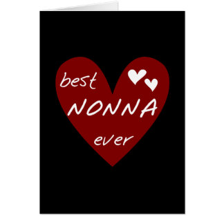 Red Heart Best Nonna Ever T-shirts gifts Card