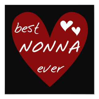 Red Heart Best Nonna Ever T-shirts gifts 13 Cm X 13 Cm Square Invitation Card