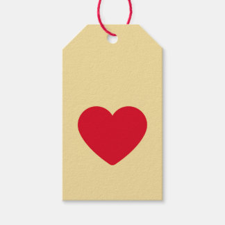 Red Heart Biscuit Gift Tags