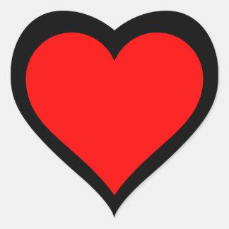 red heart black background heart sticker