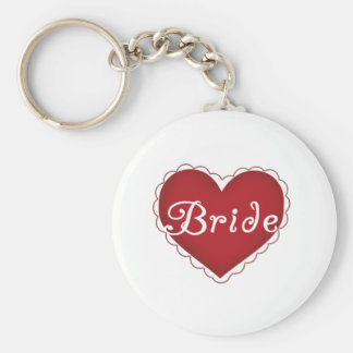 Red Heart Bride Key Chain