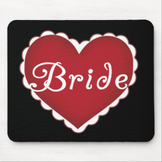 Red Heart Bride T-shirts and Gifts Mouse Pad