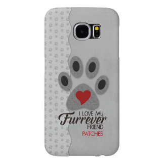 Red Heart Cat Paw with Pet Lover Theme Samsung Galaxy S6 Cases