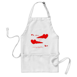 Red Heart Chain LOVE IS... Custom Standard Apron