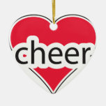 Red Heart Cheer Christmas Ornament