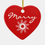 Red Heart Christmas Marriage Proposal Decoration Ceramic Heart Decoration
