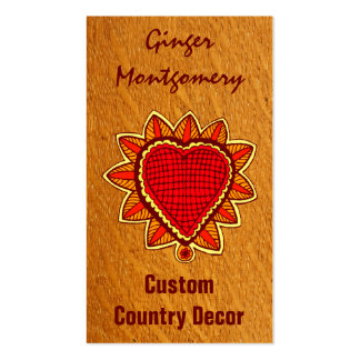 Red Heart Country Sunflower Business Card