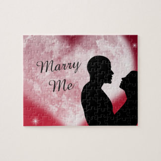 Red Heart Couple Marry Me Puzzle