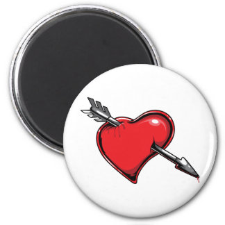Red Heart Cupid s Arrow Love Hearts Fridge Magnets