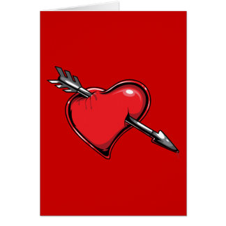 Red Heart Cupid s Arrow Love Hearts Greeting Cards