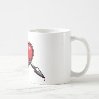 Red Heart Cupid's Arrow Love Hearts Coffee Mug