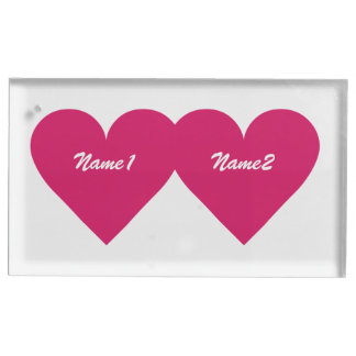 Red Heart custom table card holder