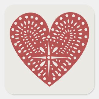 Red Heart Cutout Sticker