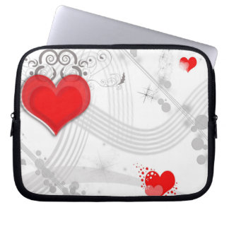 Red Heart Design Electronics Bag Computer Sleeves