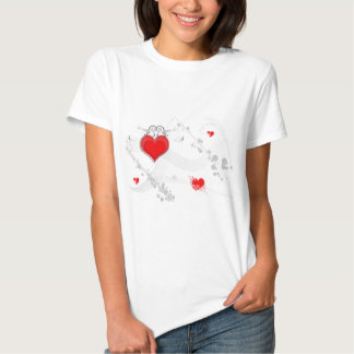 Red Heart Design Ladies T-Shirt