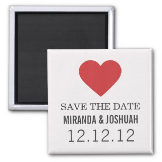 Red Heart Design Save The Date Magnets