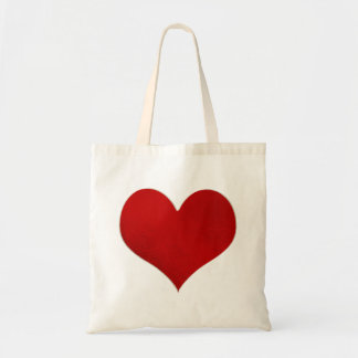 Red Heart/Faux Foil Budget Tote Bag