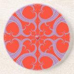 Red Heart Fractal Pattern