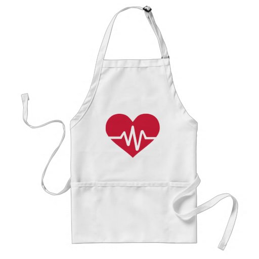 Red heart frequency love apron