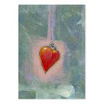 Red heart human condition expressive modern art
