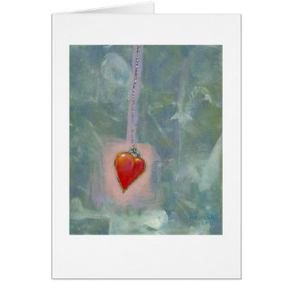 Red heart human condition expressive modern art cards