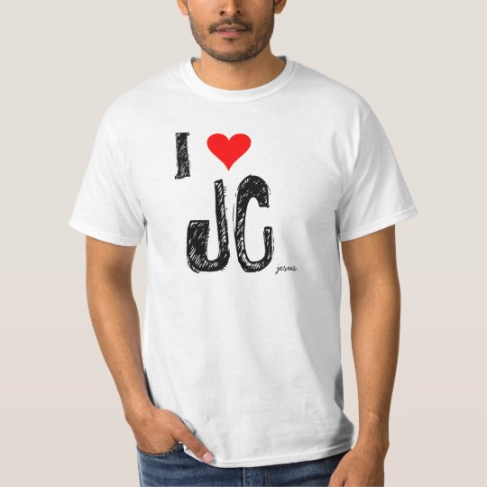 red-heart, I, JC, jesus. T-Shirt