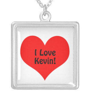 Red Heart I Love Square Pendant Valentines Day