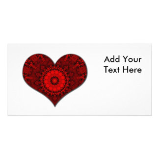 Red Heart Kaleidoscope Photo Card Template
