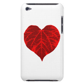 Red Heart Leaf iPod Case-Mate Cases