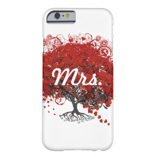 Red Heart Leaf Tree Barely There iPhone 6 Case