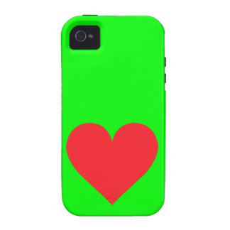 Red Heart - Love Card Suit Anatomy Case-Mate iPhone 4 Cover
