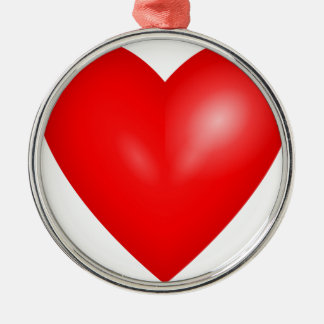 Red heart love christmas tree ornament