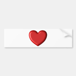 Red Heart Love  Romantic Puffy Heart 3D Bumper Sticker