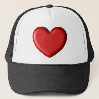 Red Heart Love  Romantic Puffy Heart 3D Trucker Hat