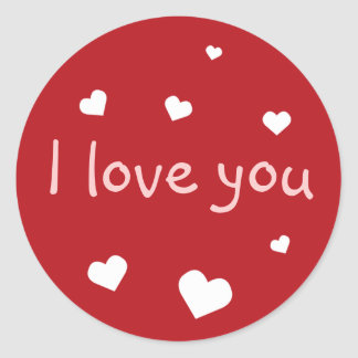 Red heart love Valentine's day custom party favor Classic Round Sticker