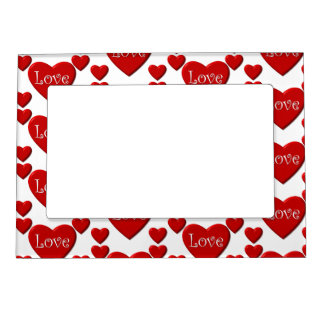 Red heart love Valentine's day picture frame