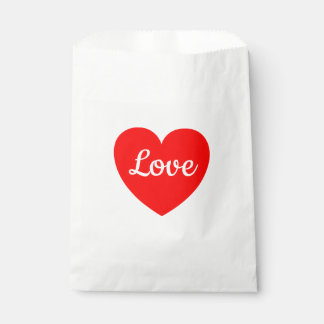 Red Heart Love Wedding, Party, Bridal Shower Favour Bags