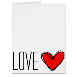 Red Heart-LOVE You! Big Greeting Card