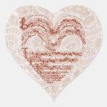 Red Heart Mediaeval Music Manuscript