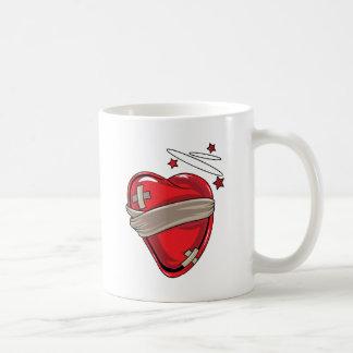 Red Heart Mending Broken Hearts Love Coffee Mug