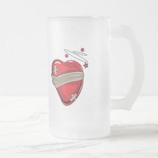 Red Heart Mending Broken Hearts Love Mug