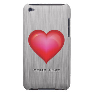Red Heart metal-look Barely There iPod Cover