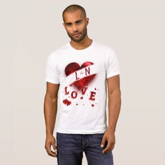 Red Heart Monogram Love T-Shirt
