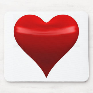 Red Heart Mouse Pad