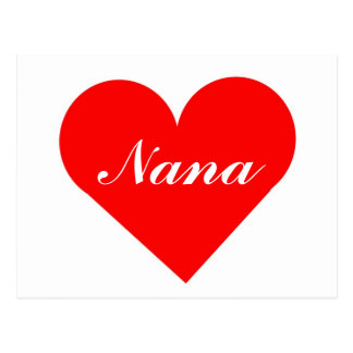 Red Heart Nana Postcard